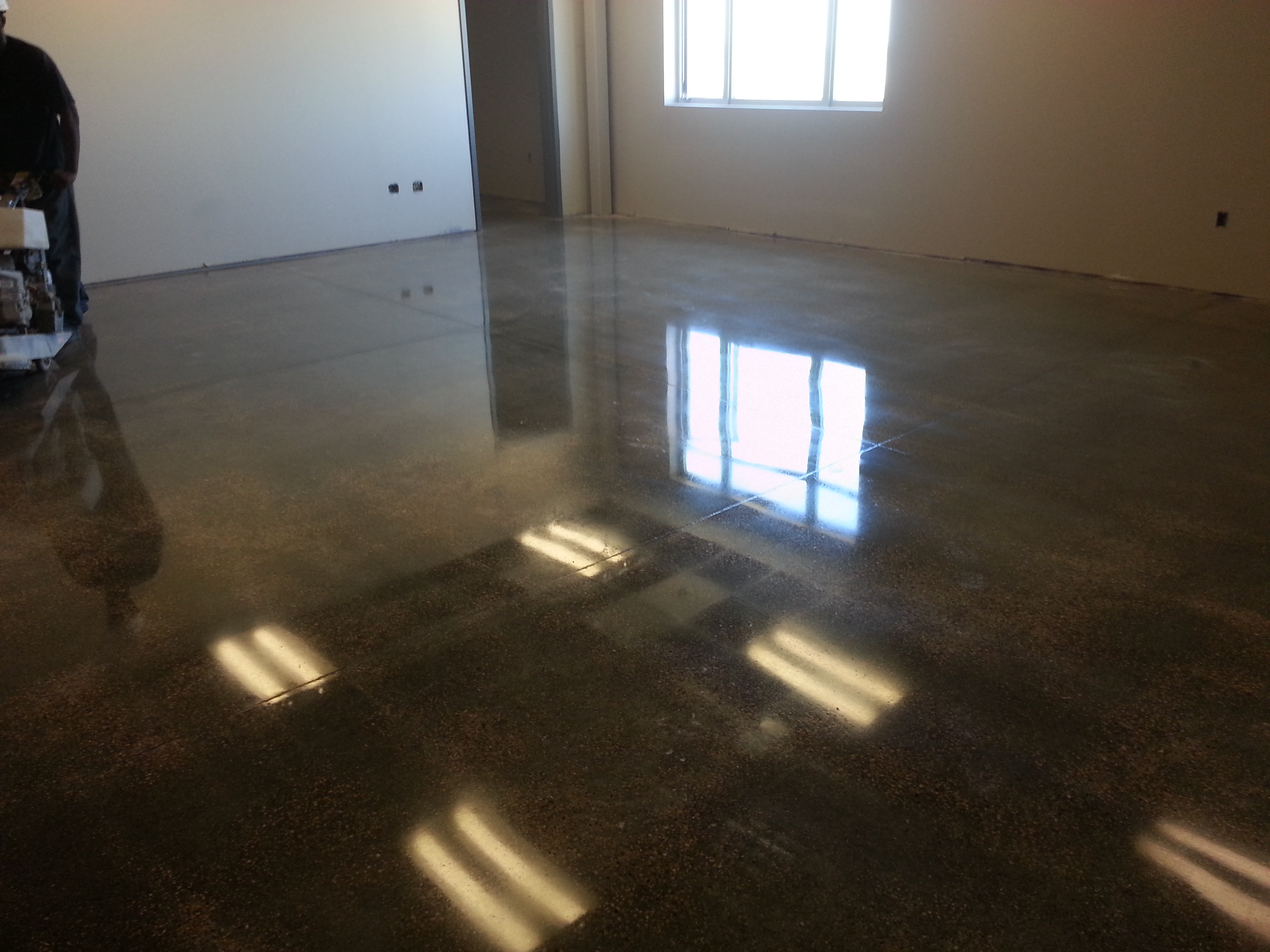 High Gloss floor sheen on educational facility in Clinton, Iowa