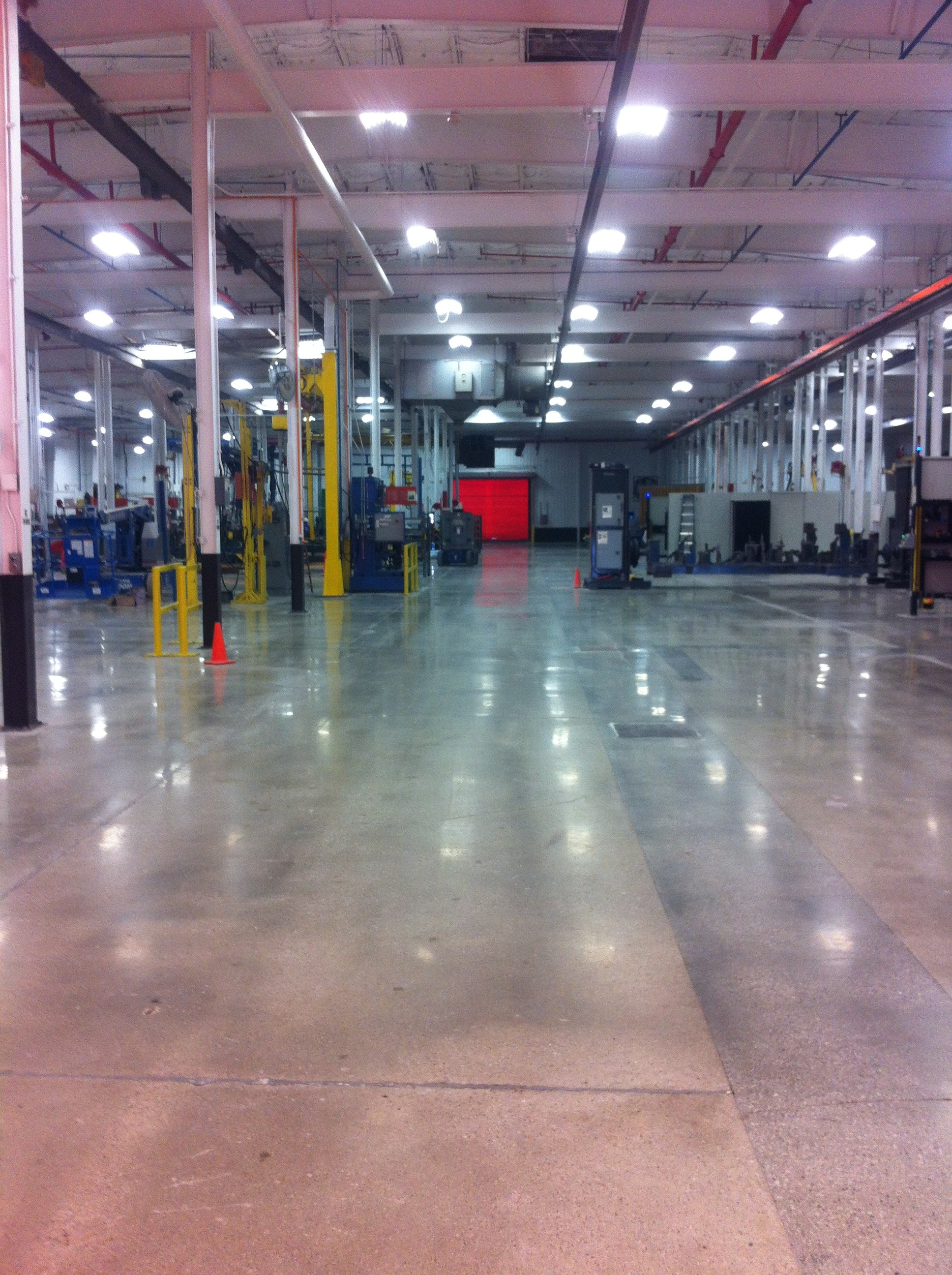 Low gloss floor gloss at a manufacturing facility in Ottumwa, IA