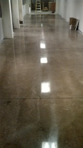 High Gloss Polished Concrete flooring at school in Des Moines, IA