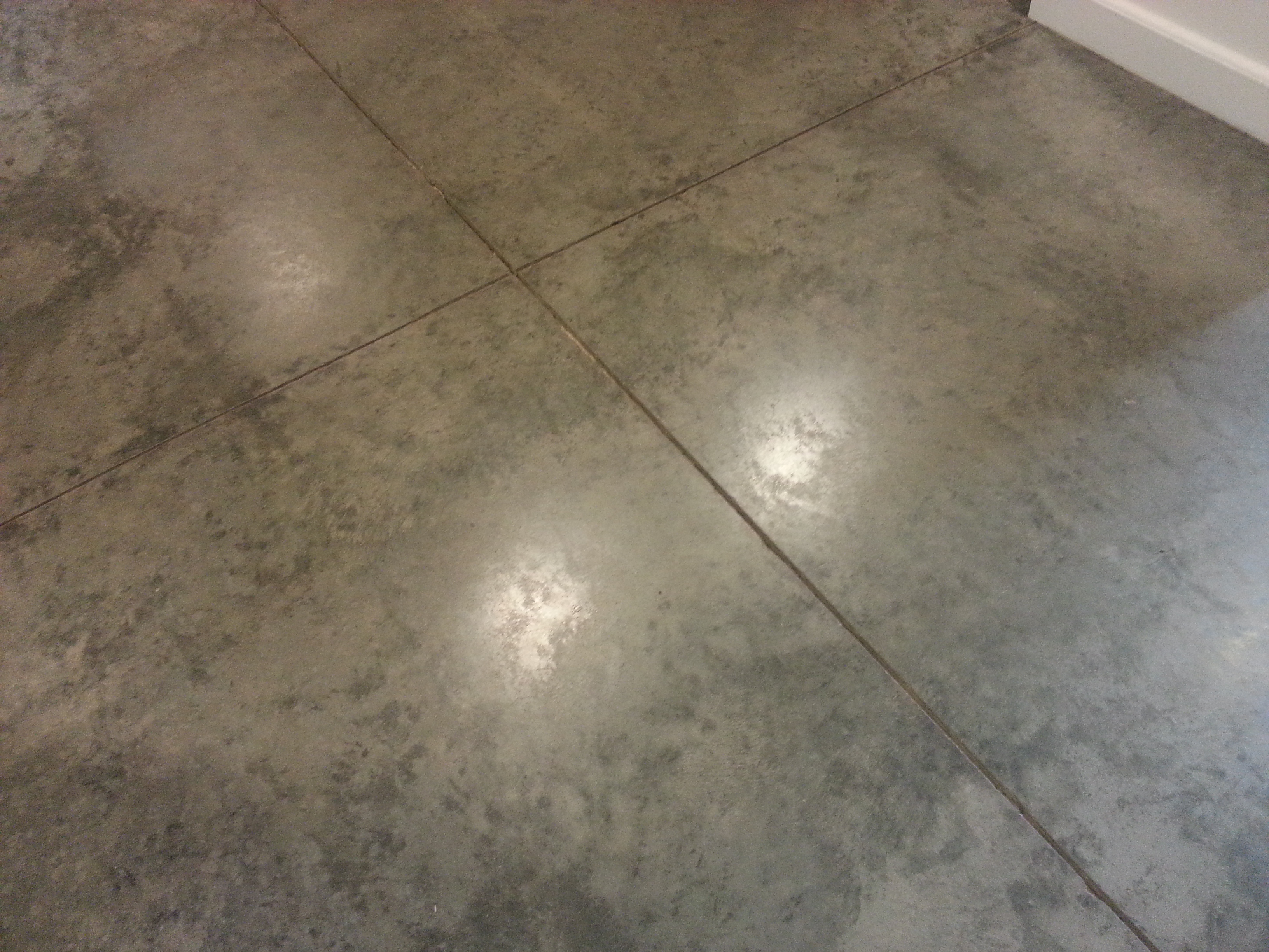 Concrete Floor Saw Cuts Ready For Joint, How To Cut Concrete Flooring