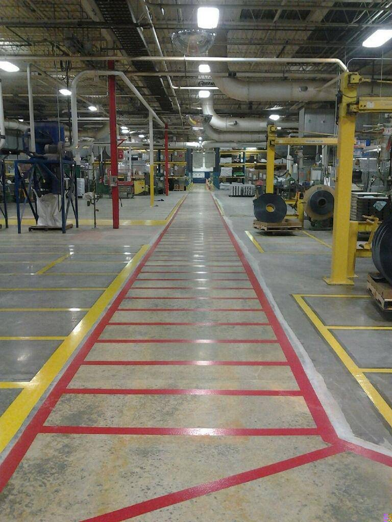 Line striping application at industrial facility St Joseph, MO