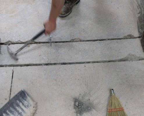 Concrete Crack Filling at Ledford Engineer Co Inc.