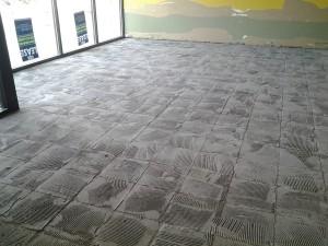 Pre tile grout removal: Concrete floor preparation