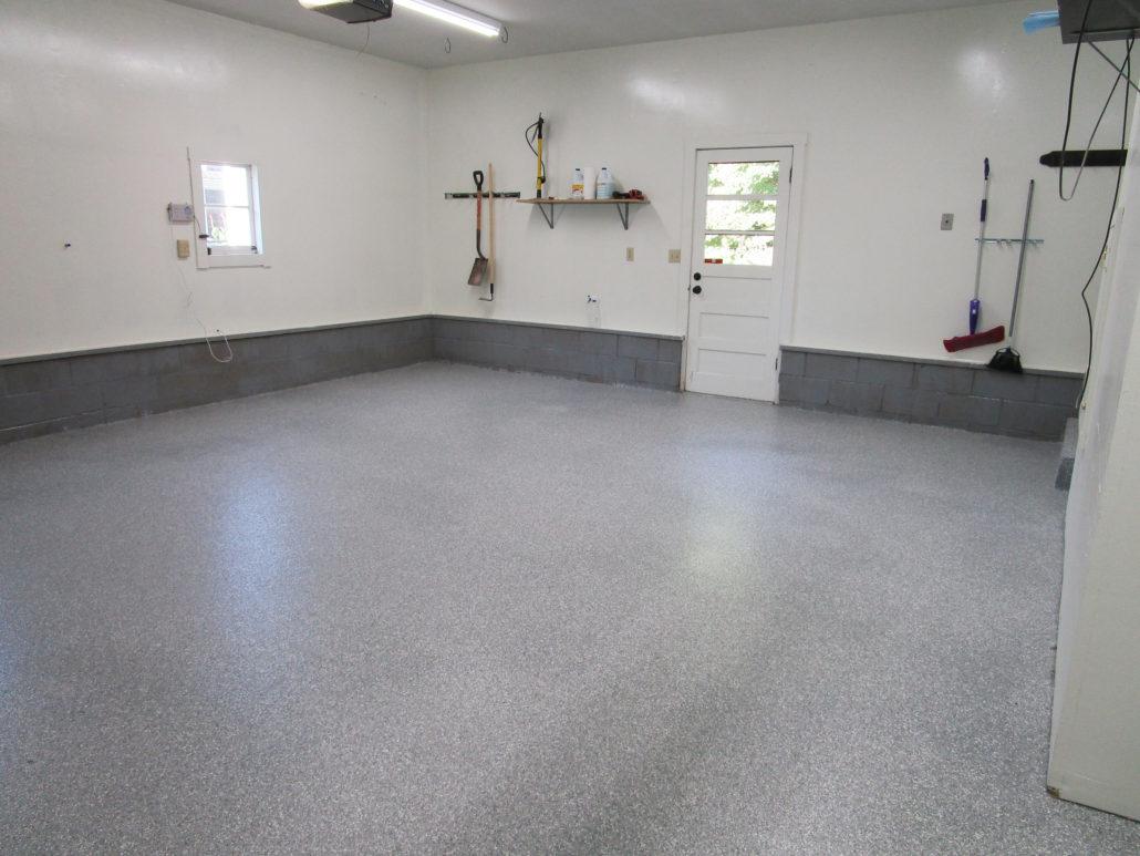 Polyaspartic Home Garage Floor Coating In Cedar Rapids Iowa