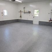 Polyaspartic Home Garage Floor Coating in Cedar Rapids, Iowa
