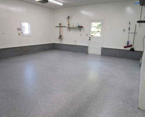 Polyaspartic Home Garage Floor Coating in Cedar Rapids, Iowa