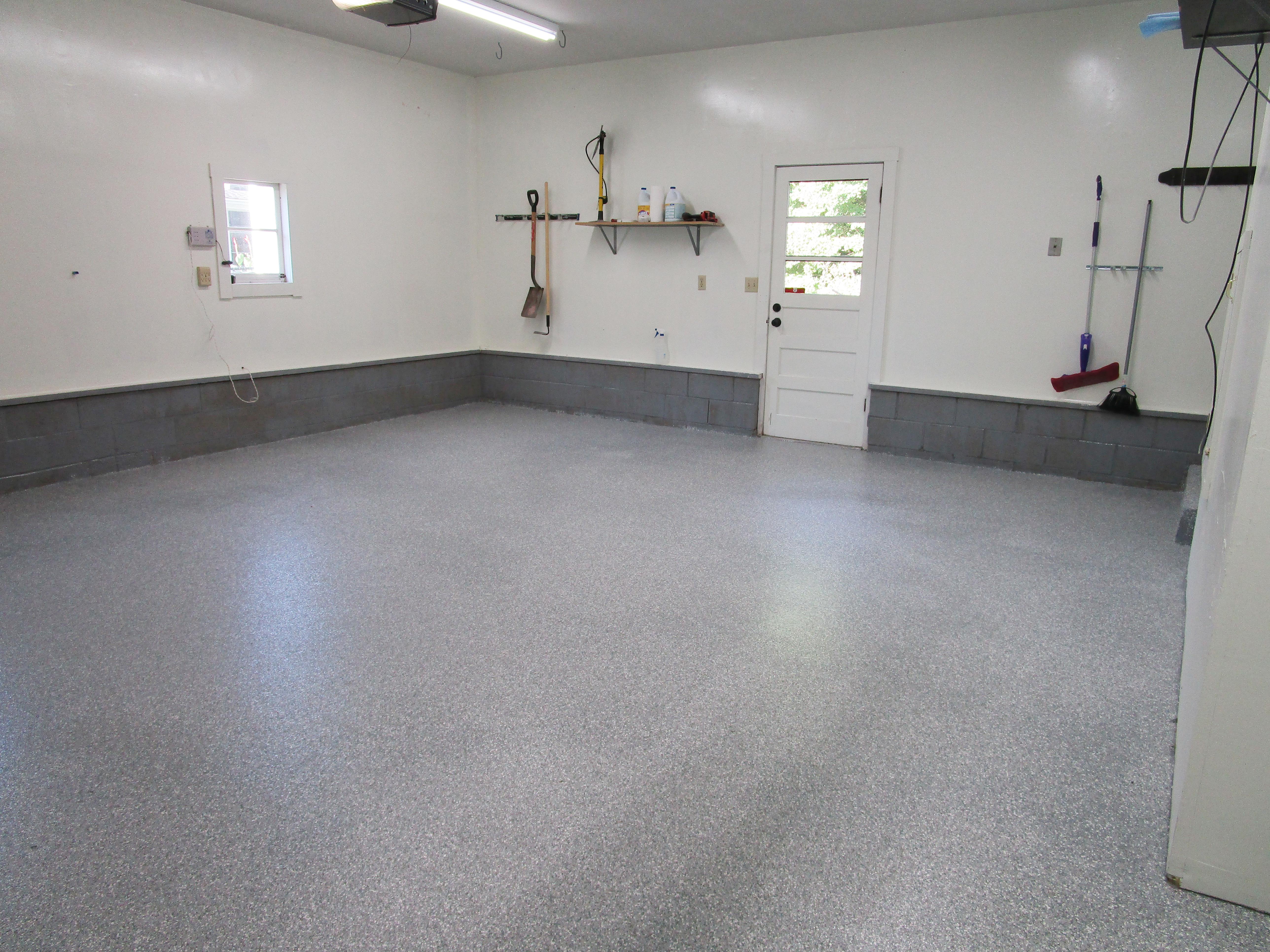 Polyaspartic Home Garage Floor Coating In Cedar Rapids