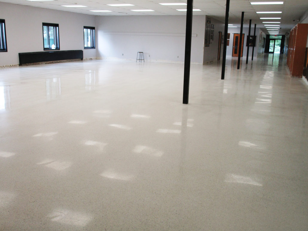 Polished Terrazzo At Tri County Community School In