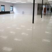 Polished Terrazzo at Tri-County Community school in Thornburg, Iowa