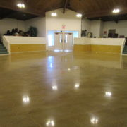 Polished Concrete at Rock River Christian Center in Rock Falls, Illinois