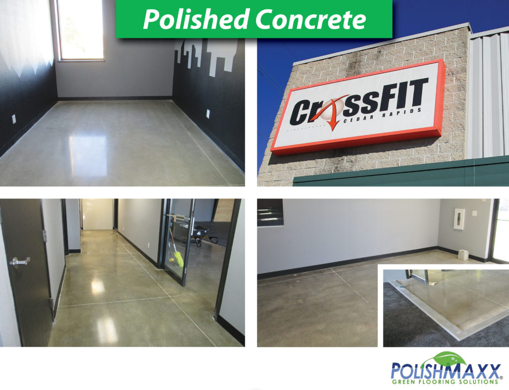 Polished Concrete at CrossFIT in Cedar Rapids, Iowa