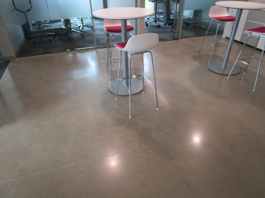 Iowa Wall Sawing Service : Polished concrete at amy wienands real estate waterloo