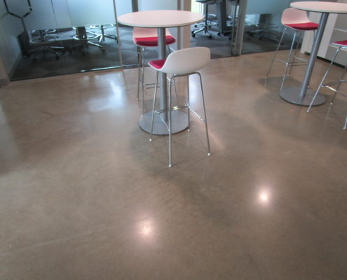 Polish Concrete at Amy Wienands Real Estate in Waterloo, Iowa